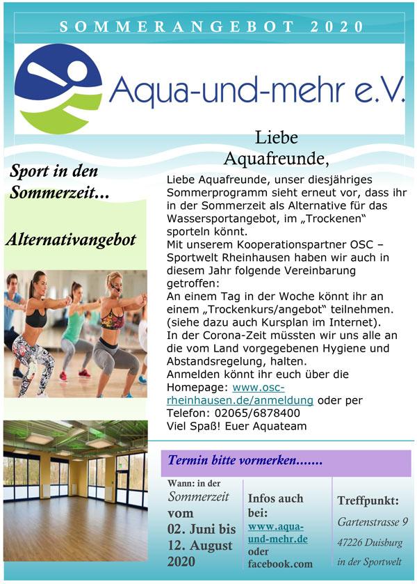 Nordic Walking 2018 bei Aqua und mehr e.V. Duisburg
