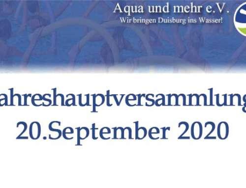 Jahreshauptversammlung 20.September 2020