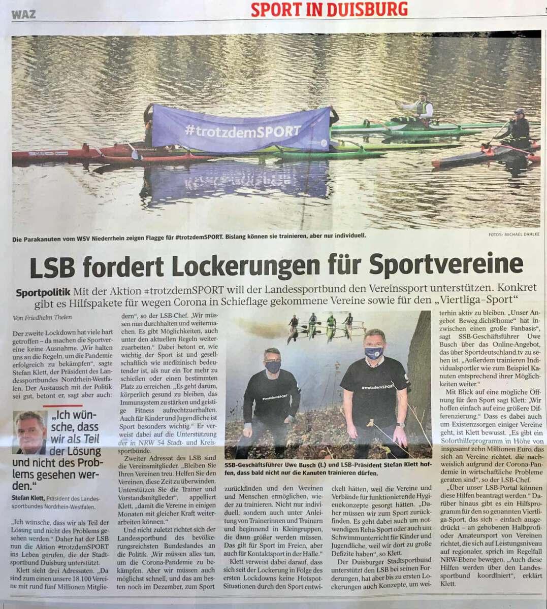 LSB fordert Lockerungen für Sportvereine