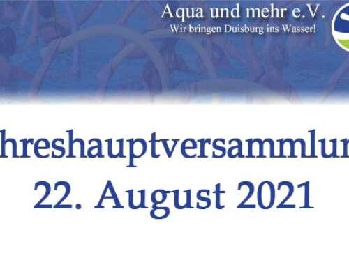 Jahreshauptversammlung 22.August 2021